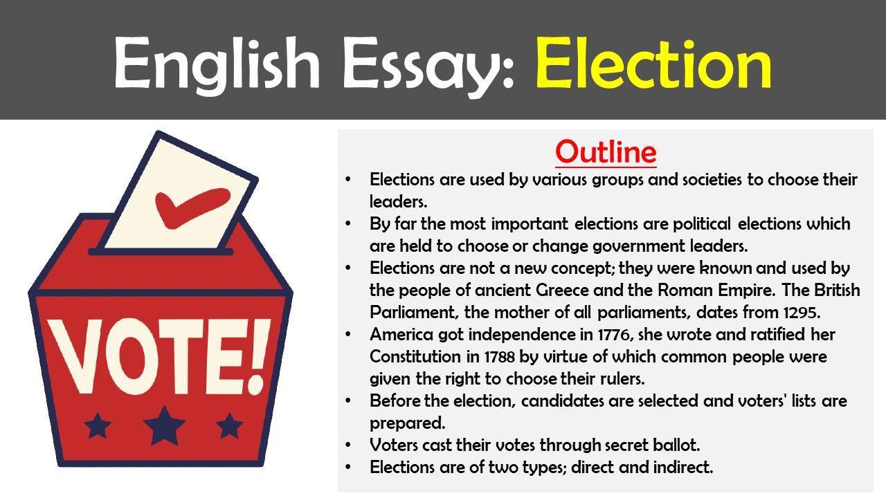 Essays on Election
