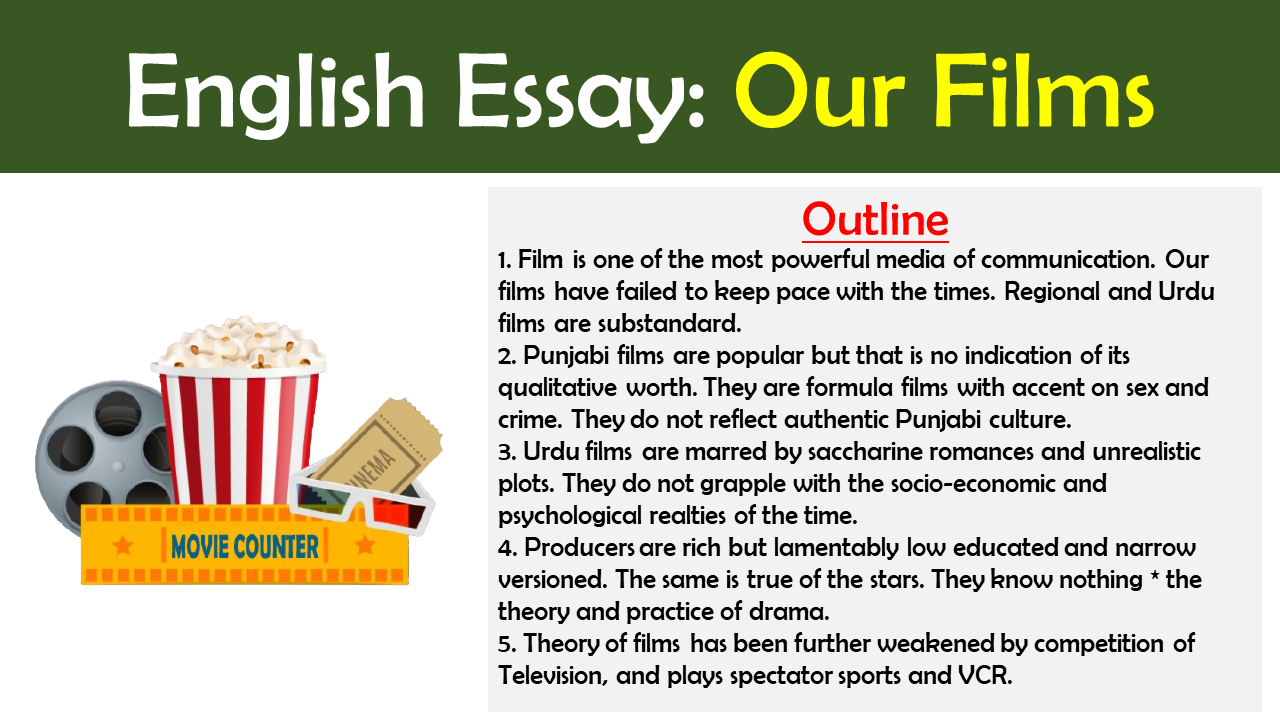 Essay on Role of films