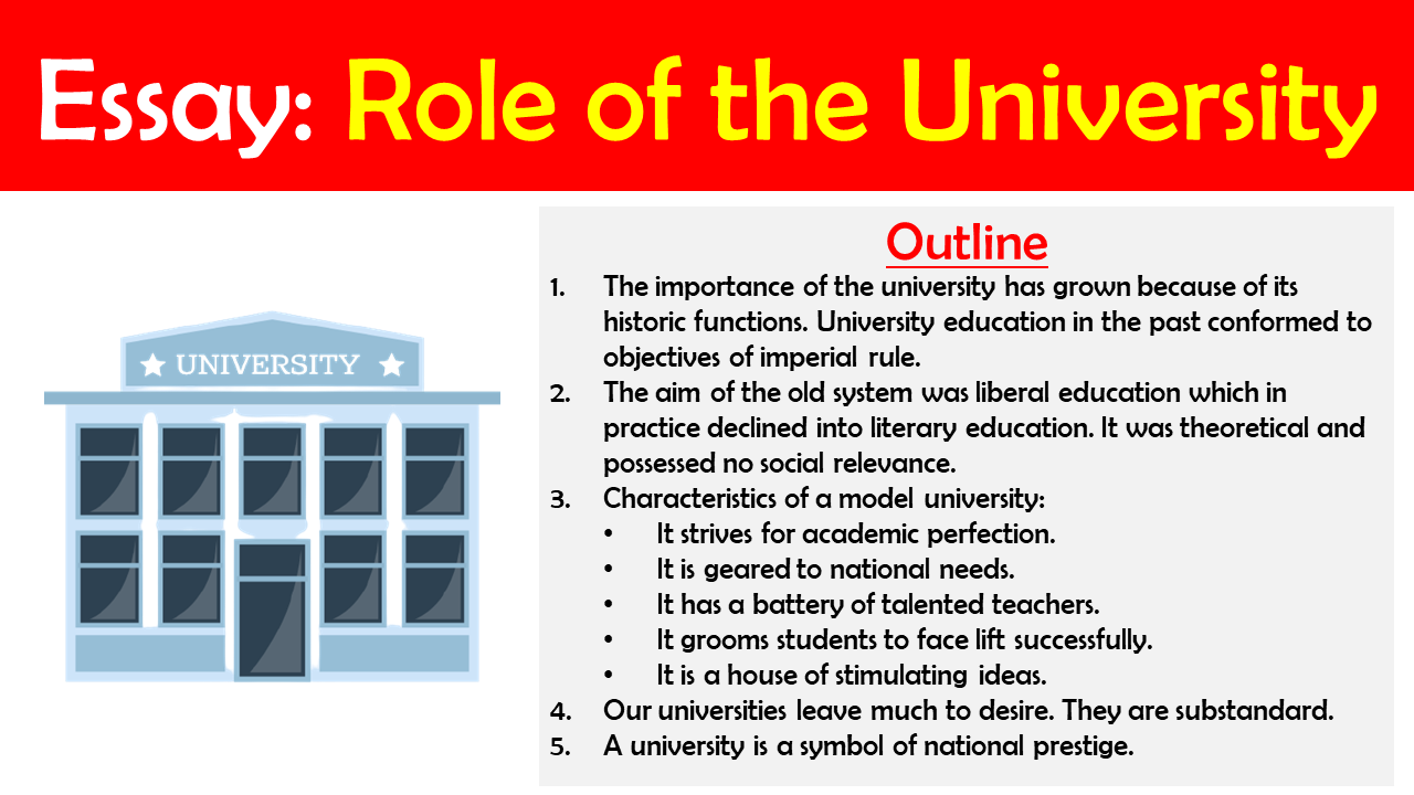 essay on the role of the university