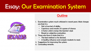 essay on our examination system